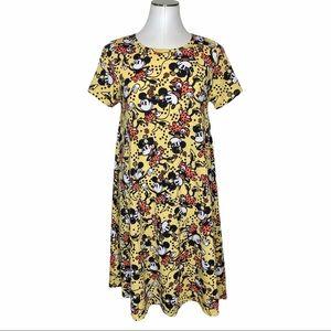 LulaRoe Carly Swing Dress comic Minnie Mouse print size Medium